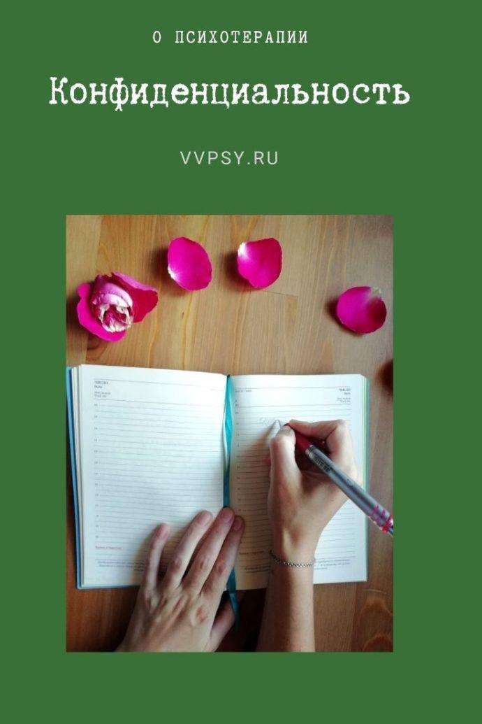 Конфиденциальность. Сайт психолога Валерии Вятчаниной